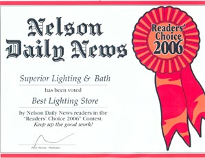 Thank You To The Readers Of Kootenay Business Magazine Chose Superior Lighting Bath As Your Pick For Best Platinum 2006 2017